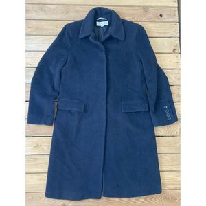 ALBERT NIPON Women's Button Up Wool Peacoat Size 8